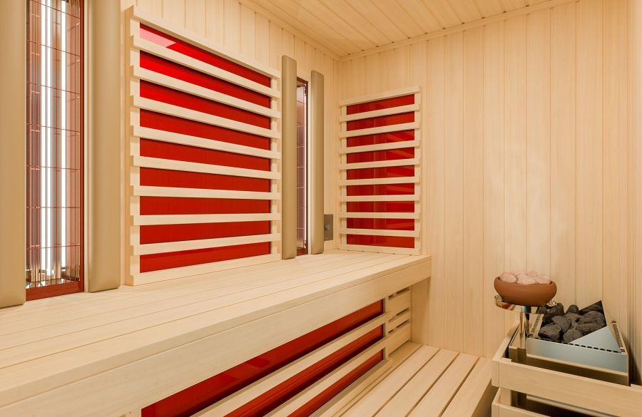 Infrarot-Flächenheizung für Sauna Optima
