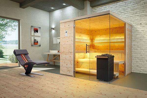 Sauna Aurora Premium in Zirbe